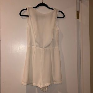 Topshop White Lace Back Formal Romper
